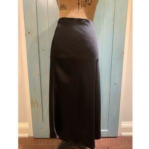 Black Silk Long Skirt